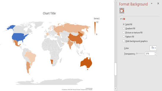 highlight PowerPoint World Map