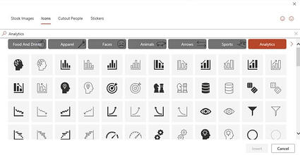 Icon library in PowerPoint
