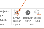 Layout Tool Bar in empower slides