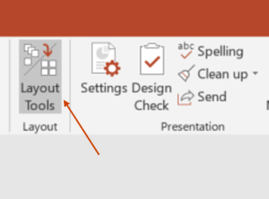 Layout Tools in Ribbon