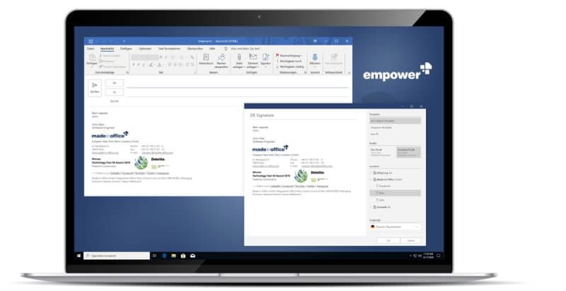empower® mails MS Outlook