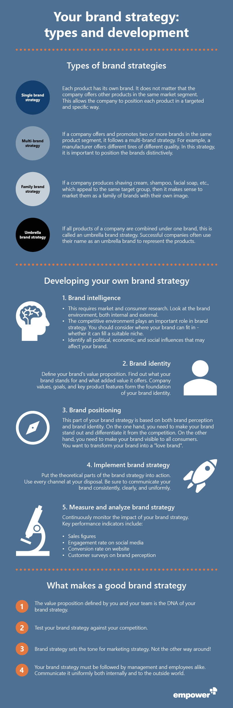 Infographic brand strategy