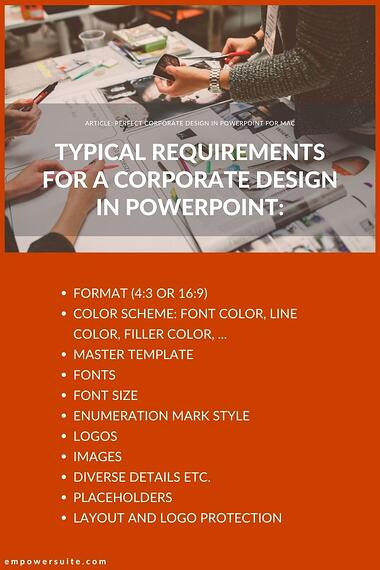typical requirements corporate design powerpoint
