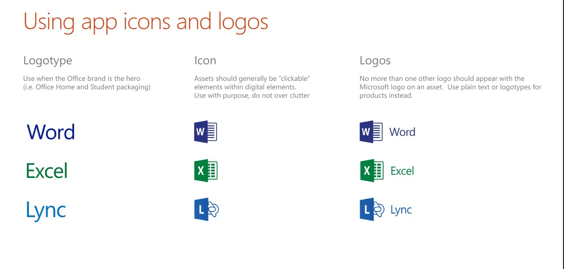 app and icon guidelines