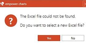 excel file could not be found