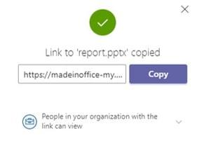 SharePoint copy link