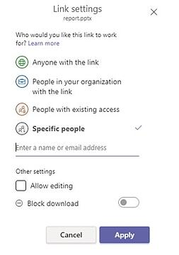SharePoint specific people