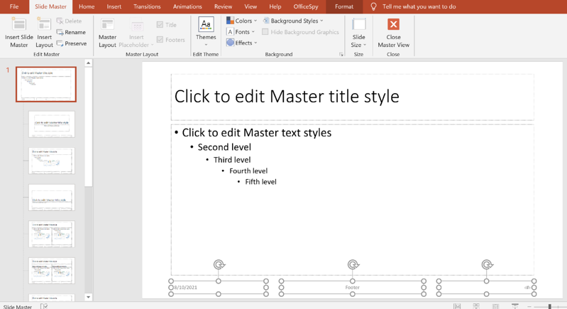insert powerpoint date footer and page