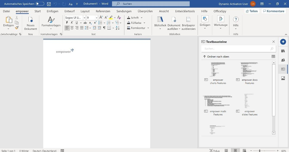 Letter templates in Word