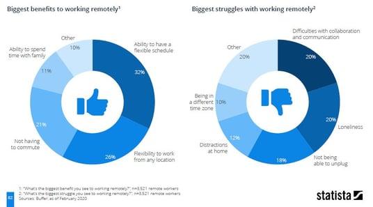 benefits and struggles remote work