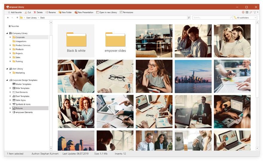 empower® Bibliothek für Microsoft Office
