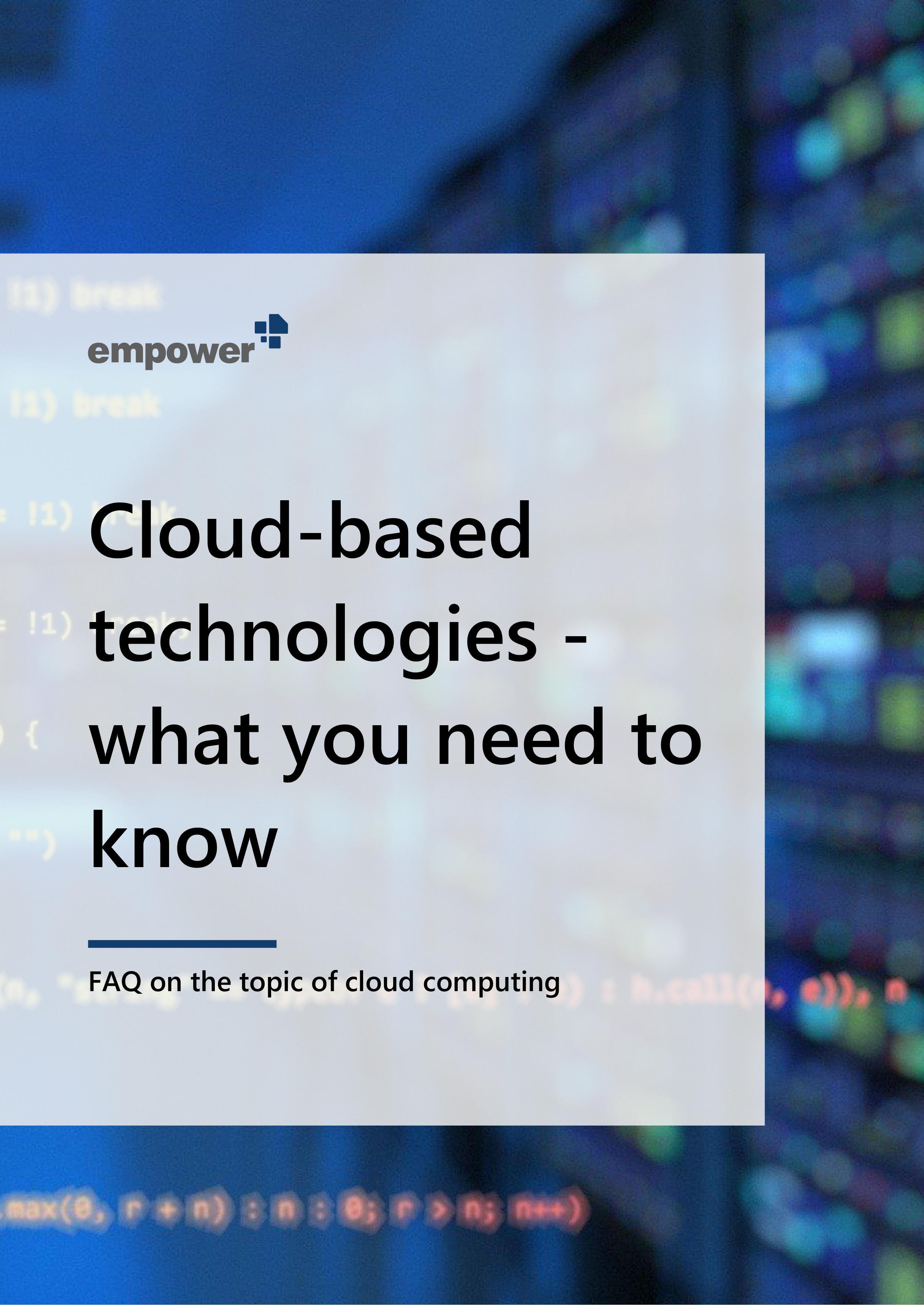 e-book cover cloud FAQ EN